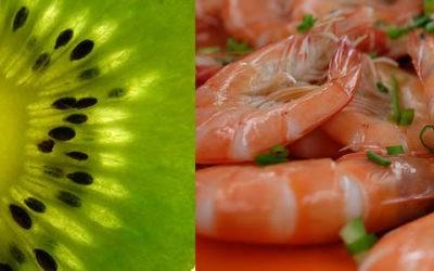 Tartare de kiwi et crevette à la citronelle